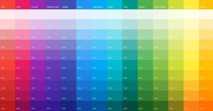 Գույները վեբ դիզայնի 2018 թ
